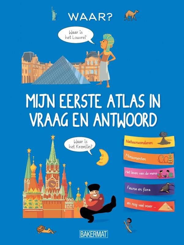 Cover eerste atlas in vraag en antwoord