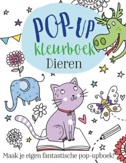 Cover pop up kleurboek: Dieren