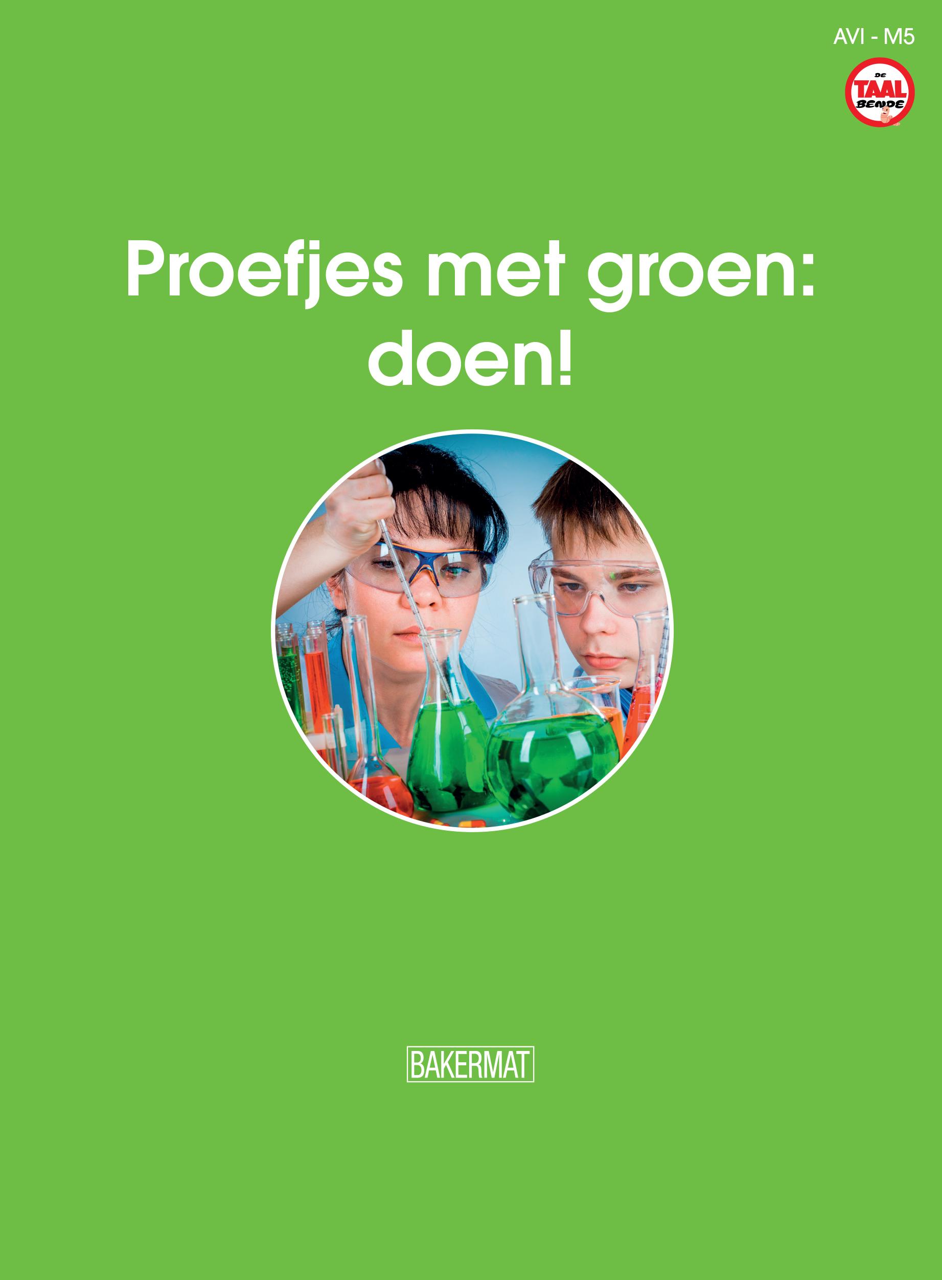 Cover proefjes met groen doen (taalbende informatief)