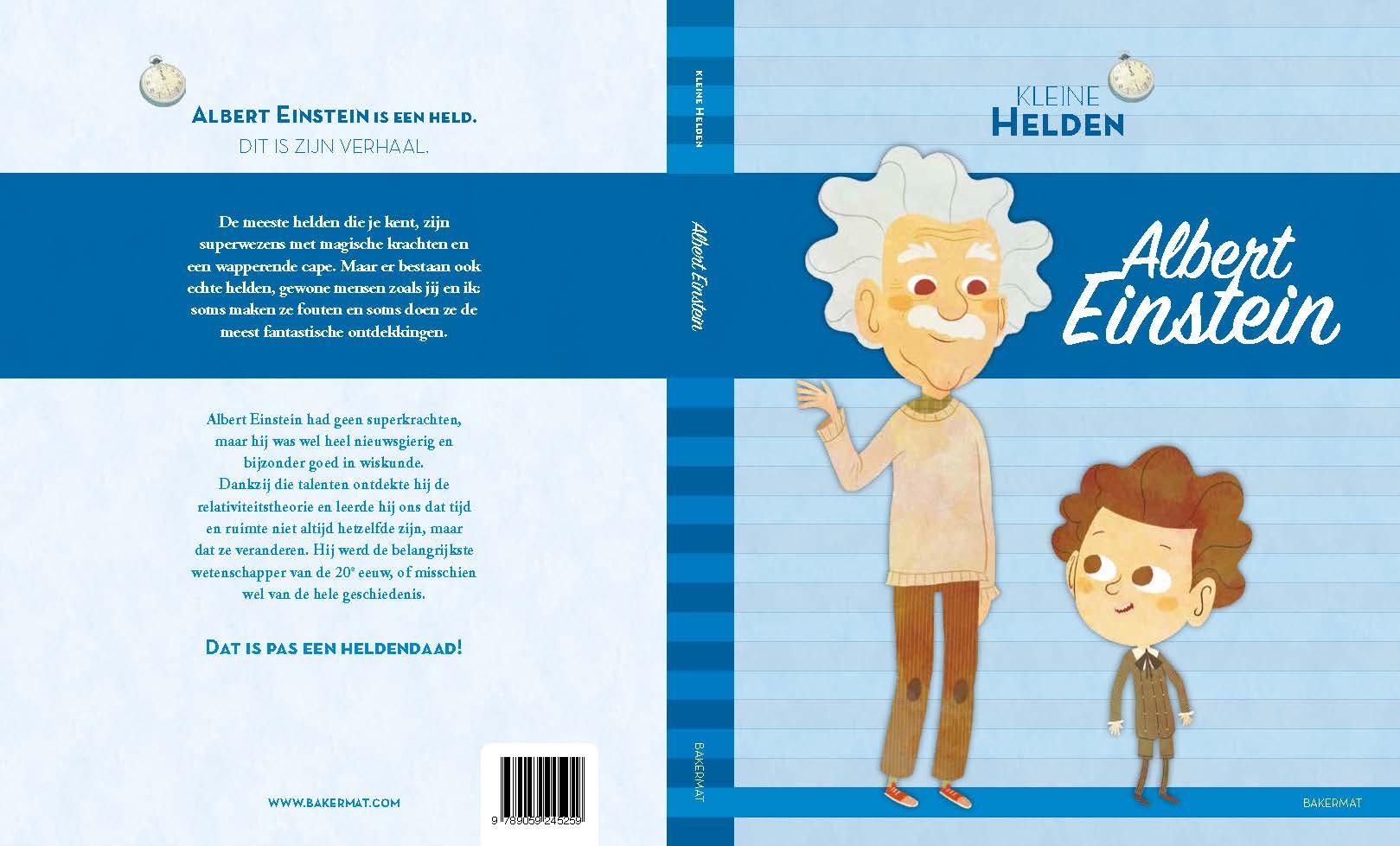 Albert Einstein voor- en achterflap