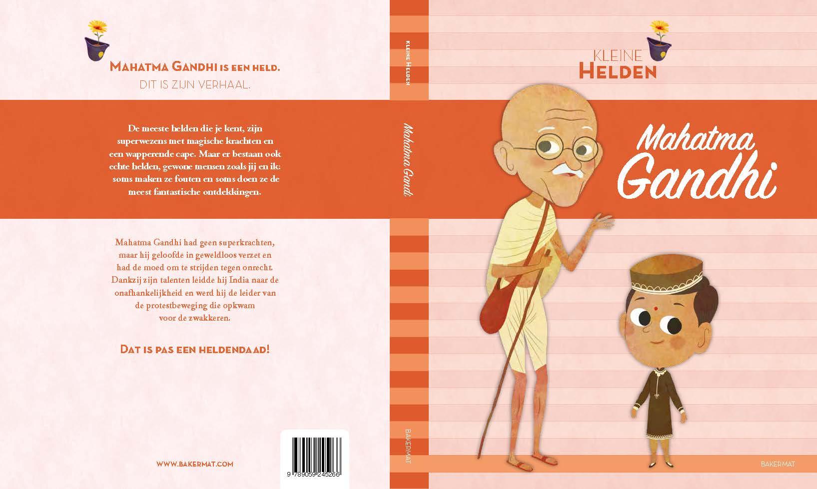 Mahatma Ghandi: voor- en achterflap