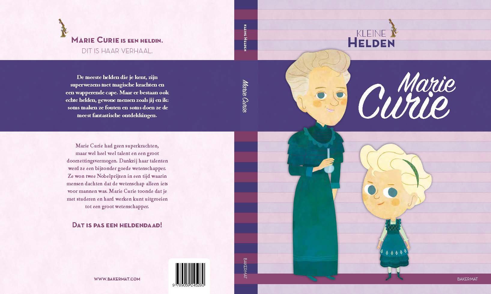 Marie Curie voor- en achterflap
