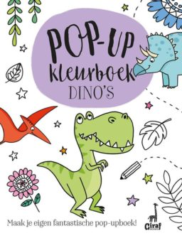 Pop-up kleurboek dino's cover