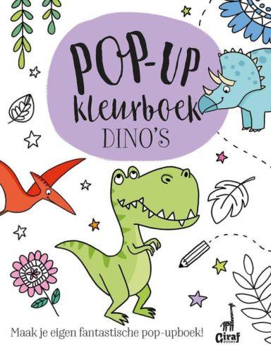 Pop-up kleurboek dino's cover