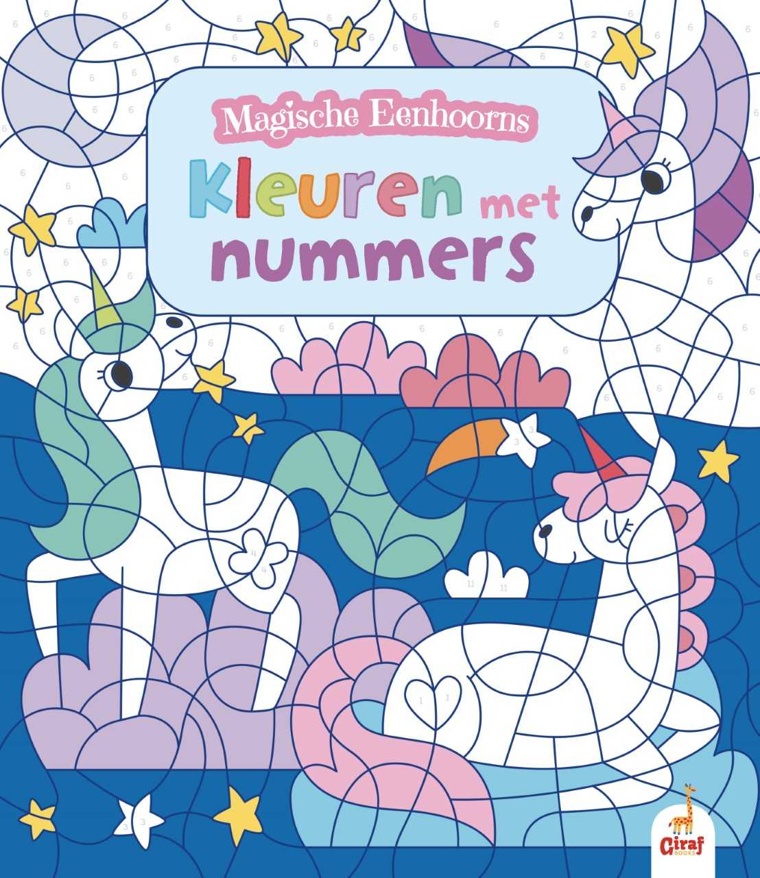 Magische eenhoorns kleuren met nummers