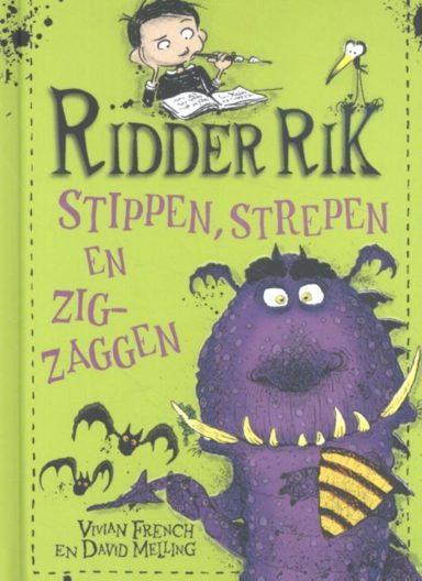 Cover Ridder Rik: groene omslag met paars monster en vleermuizen