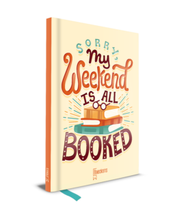 Notitieboek met op de cover sorry my weekend is all booked
