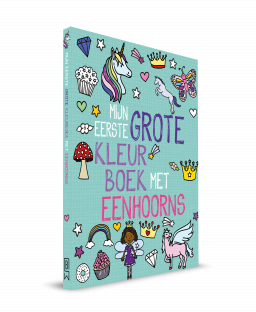 cover mijn eerste grote kleurboek met eenhoorns
