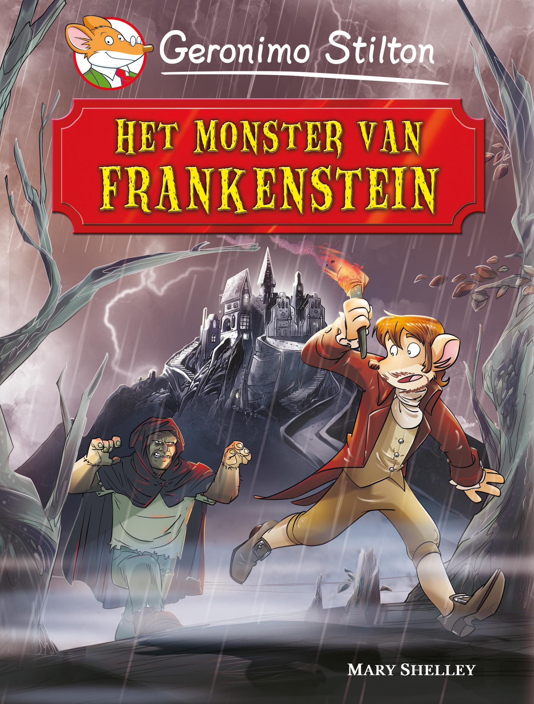 Cover van wereldverhalen het monster van Frankenstein