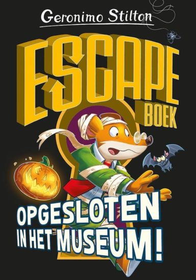 cover geronimo stilton escape boek opgesloten in het museum